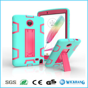 Armor Rubber Hybrid Heavy Duty Shockproof Stand Case for LG G Pad V525 V498 V496 pictures & photos