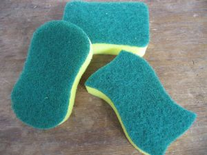 High Quality Dish Washing Nylon Scouring Pad pictures & photos