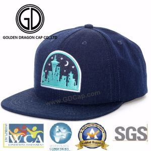 2017 New Design Era 3D Embroidery Brim Quality Acrylic Snapback Cap with Rope pictures & photos
