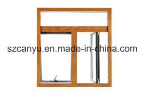 Top Grade Chinese Traditional Wood Clad Aluminum Window pictures & photos