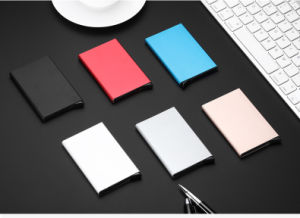 Mini Wallet Aluminium RFID Safe Pop-up Card Case for Promotional Gift pictures & photos