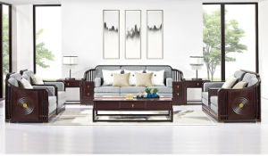 Modern Wooden Sofa Set Designs in Oak Finish for Hotel or Living Room pictures & photos