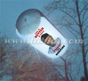 Outdoor Advertising Inflatable Tube Helium Balloon K7058 pictures & photos