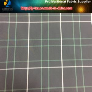White/Green Lines, Black Ground Yarn Dyed Polyester Plaid Fabric for Garment (YD1175) pictures & photos