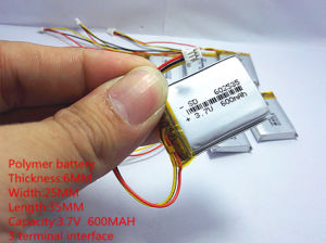 Polymer Lithium Battery 3.7 V, 600 602535 Can Be Customized Wholesale Ce FCC RoHS MSDS Quality Certification pictures & photos