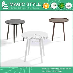 Aluminum Round Table Outdoor Round Table (Magic Style) Garden Side Table Cafe Club Table pictures & photos
