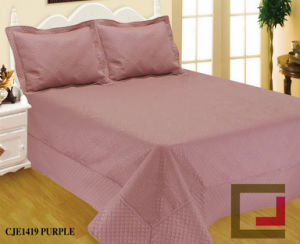 Ultrasonic Quilt/Print Microfiber Bedspread /Bedding Sets pictures & photos