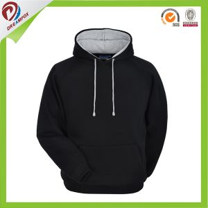 Black Gym Hoodie Custom Embroidery Logo Mens Hoody pictures & photos