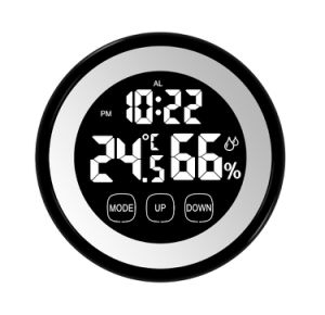 Round Shape Touch Screen Digital Timer with Temperature and Humidity pictures & photos