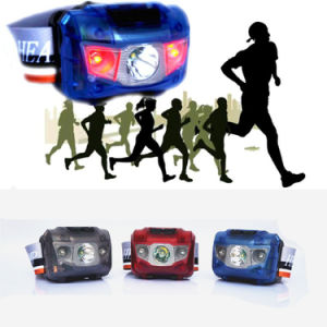 Clear Chell Super Light Weight 45g Ipx6 Double Switch White XPE+2 Red LED AAA 5 Mode Flashing Headlamp for Sports Running Hunting Fishing Warning Headlamp pictures & photos