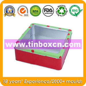 Rectangular Tin Box with Clear PVC Window for Electronics Toy pictures & photos