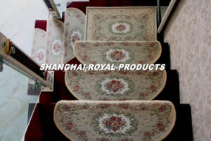 Indoor Anti-Slip Chenille Jacquard Carpet Stair Mat pictures & photos