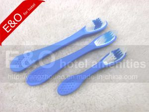 Soft Security Thumb Rubber Toothbrush with Nylon Bristle pictures & photos