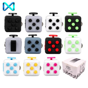 HS221 Funny 6-Side Fidget Cube Dice with Cool Colors for Release Stress pictures & photos