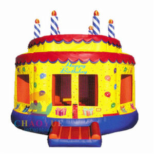 Birthday Cake Jumping Castle Bounce House for Kids Playing pictures & photos