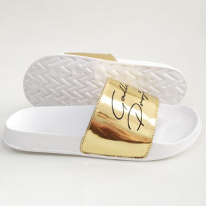 Bright Color Gold Color Slipper for Man and Lady pictures & photos
