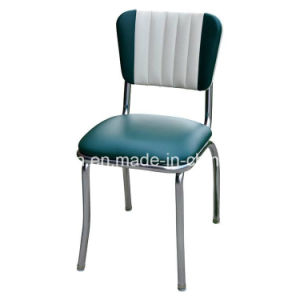 Best Seller Factory Supply Antique 50s Style Metal Frame Leather Dining Chair (SP-LC293) pictures & photos