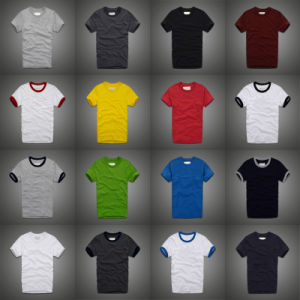 Custom Quality 160g Cotton Screen Printing/ Embroidery Man′s T Shirt of Round Neck pictures & photos