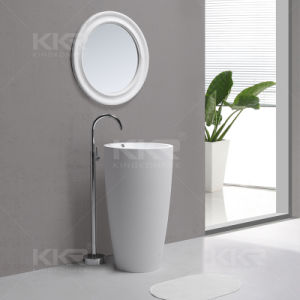 Solid Surface Bathroom Pedestal Hand Wash Basin pictures & photos