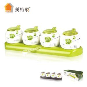 Metka Household Kitchen Strengthen Porcelain Seasoning Set 4 Pot pictures & photos
