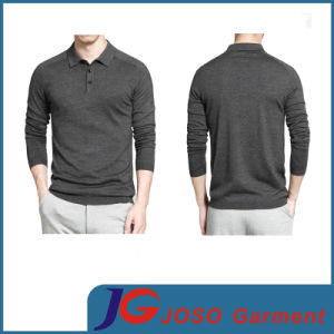 Men′s Knitted Long Sleeve Polo Shirt (JS9021m) pictures & photos