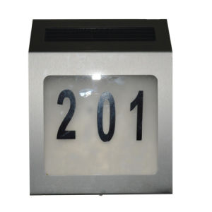 House LED Solar Door Numbers Solar Wall Light pictures & photos