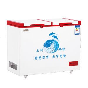 168L Double Temperature Top Open Double Door Chest Freezer pictures & photos