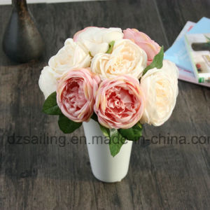5 Heads Royal Wedding Rose Bouquet Artificial Flower for Decoration (SF13941/5)