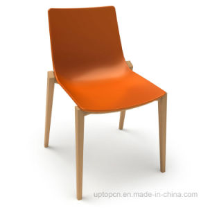 Steady Colorful Leisure Plastic Wooden Dining Chair (SP-UC011) pictures & photos
