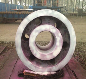 Rotary Dryer Support Roller Under PT Inspection pictures & photos