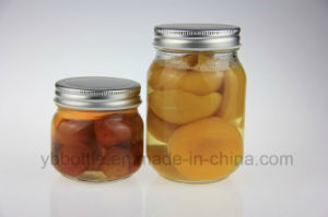 16oz Glass Mason Jars Food Containers Wholesale with Metal Screw Cap pictures & photos