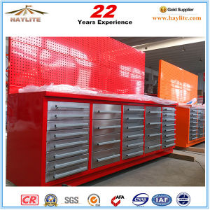 112in 20drawer Steel Roller Tool Storage Cabinet with Wooden Top pictures & photos