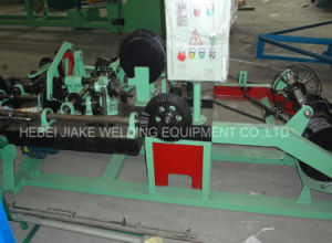 Cheap Electronic Control Hot Dipped Galvanized Barbed Wire Machine pictures & photos