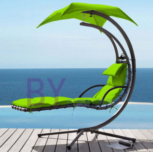 Outdoor Canopy Reclining Iron Swing pictures & photos