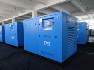 37kw Oil Lubricated Industrial Rotary Screw Air Compressor with Air Booster pictures & photos