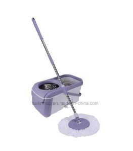 Hand Press Spin Mop with Big Steel Basket Bucket (SL-S025)
