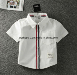 High Quality White Baby Boys Polo Shirt Children Wear T-Shirt pictures & photos