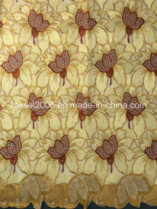 High Quality Voile Lace with Rich Stones pictures & photos