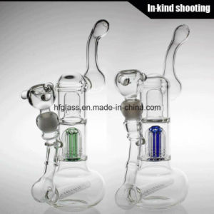 """12"""" 6 Arms Tree Bubbler Smoking Glass Water Pipe Hookah Hand Blown Heady Tobacco Bubbler Wholesale pictures & photos"""