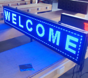 Outdoor DIP P10 Blue LED Message Board