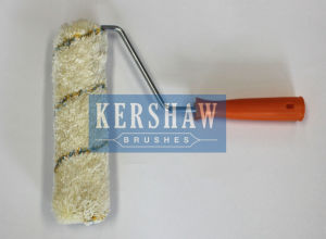 012 Paint Roller (Creamy white-and-Brown Striped With Long Handle) pictures & photos