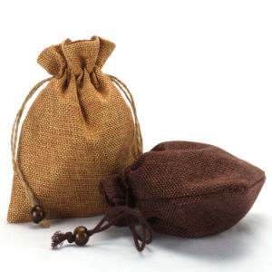 Wholesale Gift Drawstring Burlap Favor Bag (CJB1124) pictures & photos