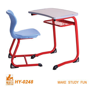MDF Table and Metal Round Chair for High School pictures & photos