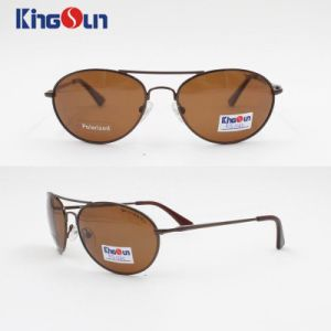 Men′s Stainless Steel Sunglasses with Polarized Lens Ks1135 pictures & photos