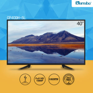 40-Inch Cheap Price Dled 1080P HD Television with Aluminium Alloy Fram pictures & photos
