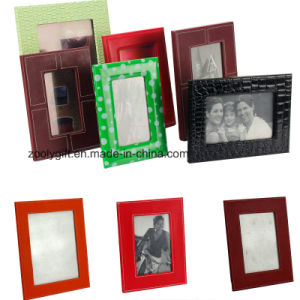 Quality 4X6, 5X7 PU Leather Photo Frames Promotional Gift Leather Frame pictures & photos