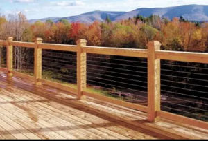 Outdoor Design Stainless Steel Cable Railing with Wood Handrail pictures & photos