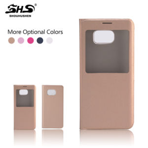 Ultra Slim Flip View Window Leather Battery Cover Case