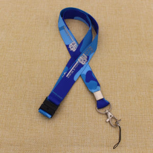 Wholesale Cheapest Polyester Printed Custom Lanyard with Safety Buckle pictures & photos
