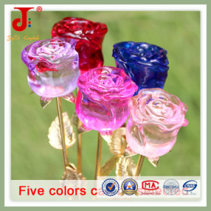 Small Sizes Crystal Bud Rose Decoration Flower (JD-CF-104) pictures & photos